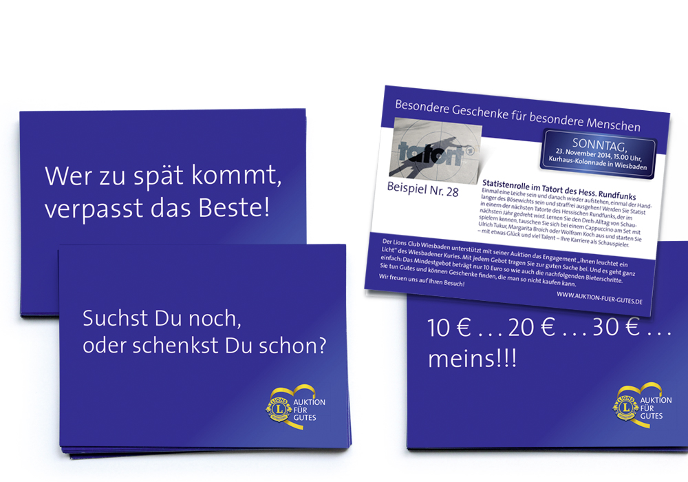 Teaser- Postkarten