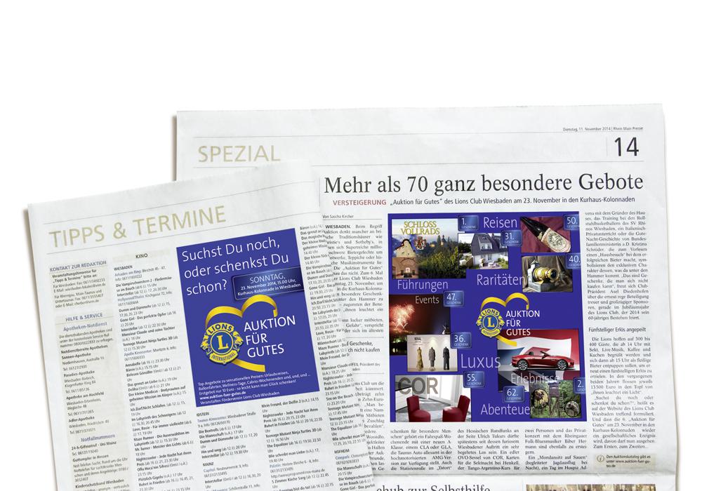 TZ-Anzeige und PR-Artikel