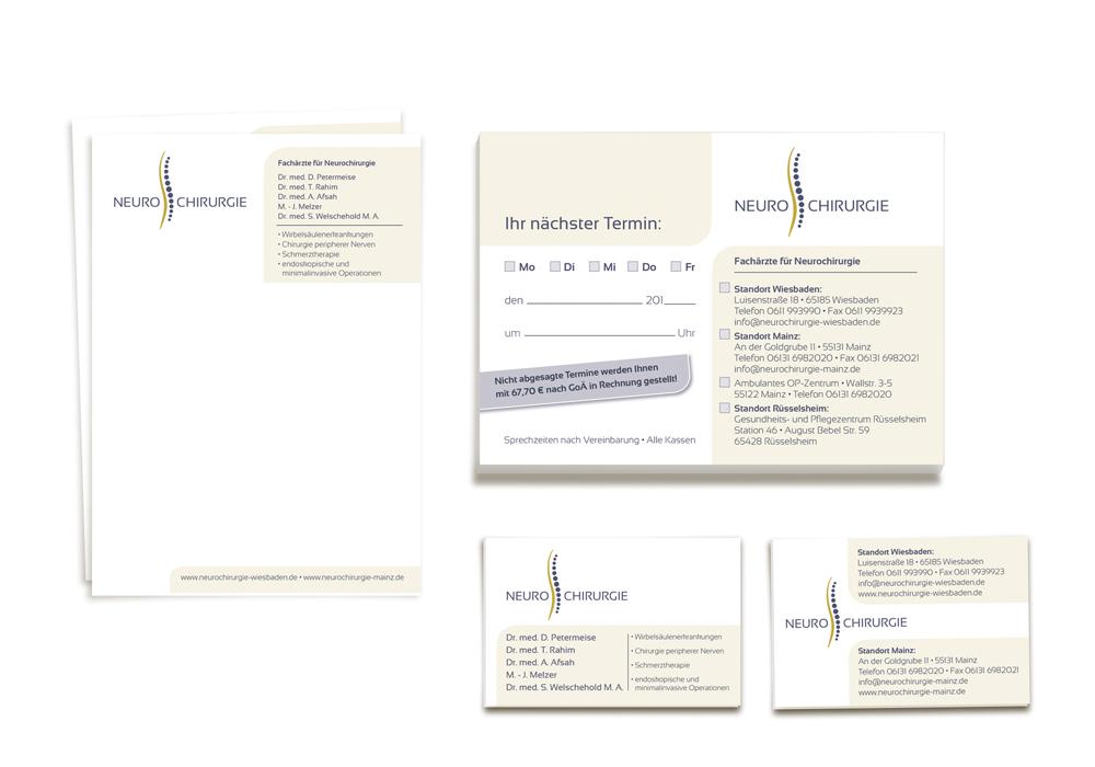 Geschäftsausstattung/ Privatrezept, Terminblock, Visitenkarten