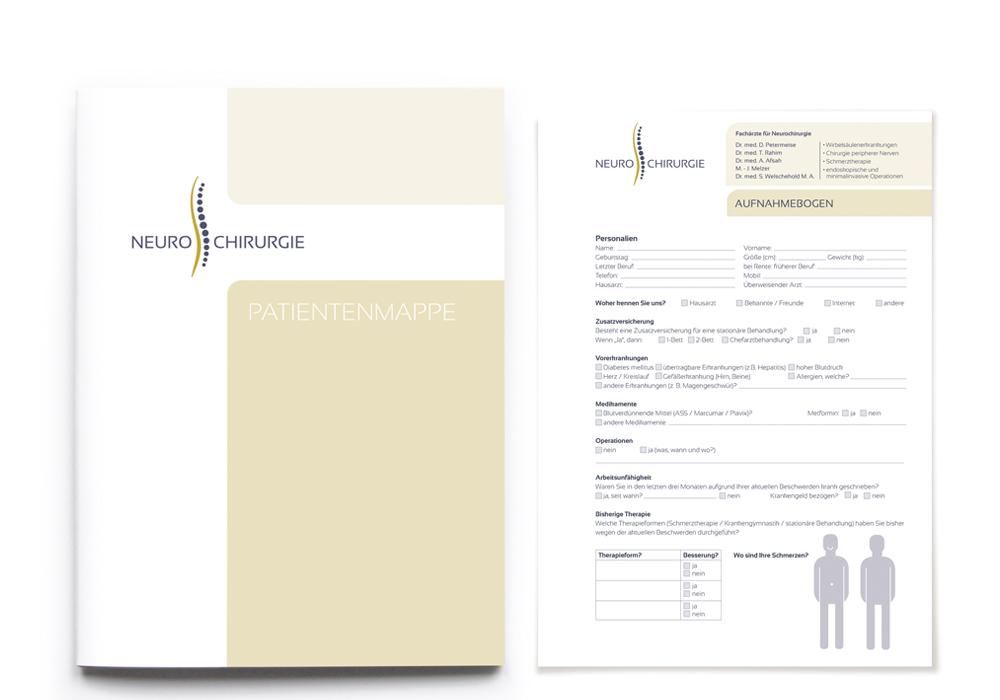 Patientenmappe/ Aufnahmebogen