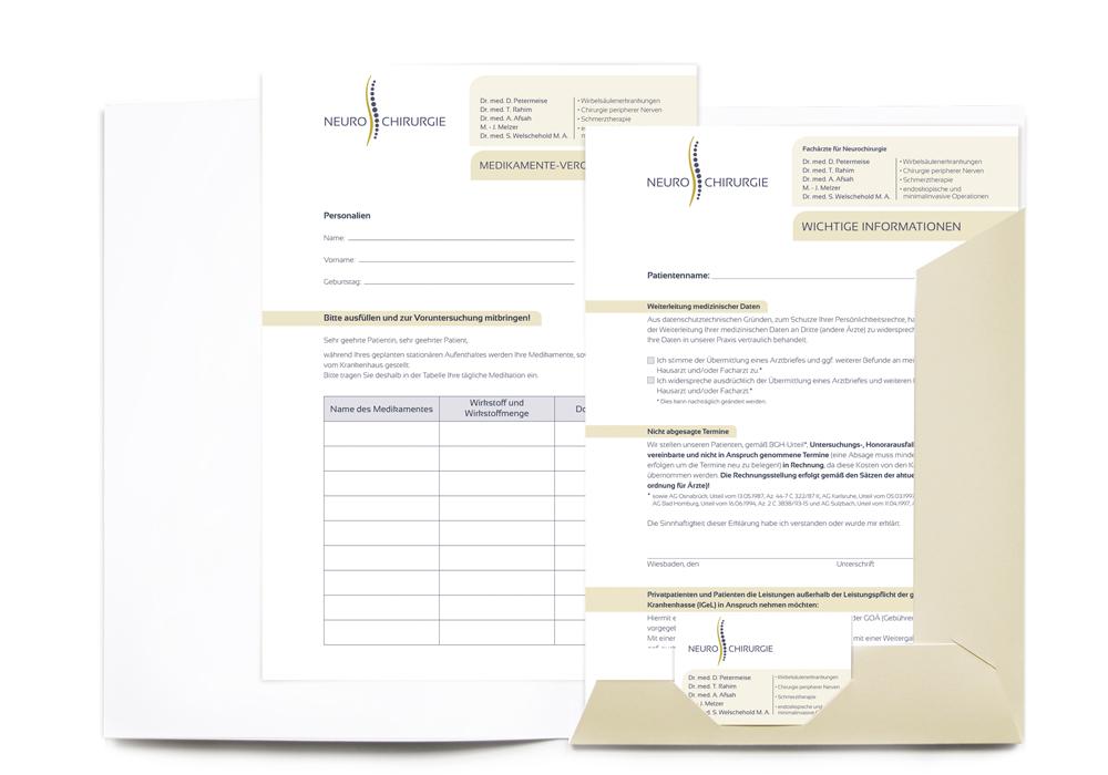 Patientenmappe / Informationsblatt, Medikamente-Verordnung