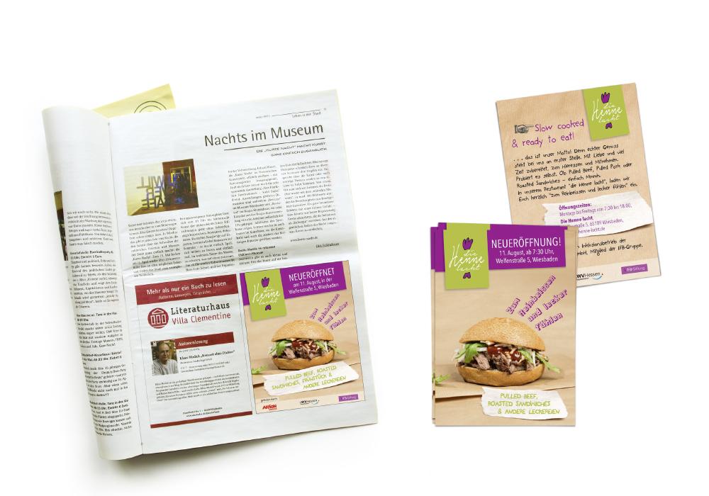 Anzeige im Stadtmagazin, Flyer